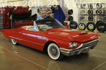 1964 Thunderbird on display by its current owner at world of wheels auto show