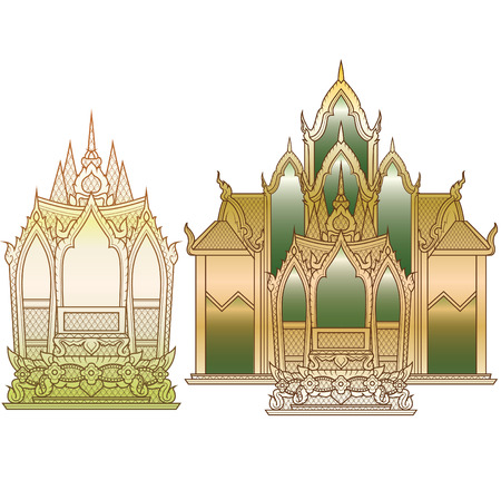 thaiart: Temple small medium Illustration