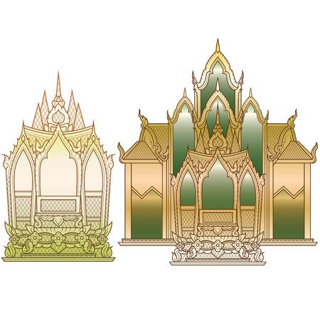 thaiart: Temple small medium Illustration