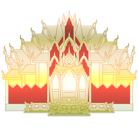 thaiart: Temple large Illustration
