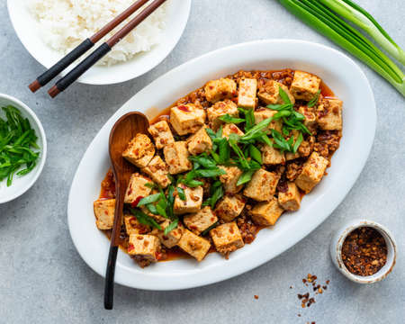 Chili Tofu, traditional chinese dish