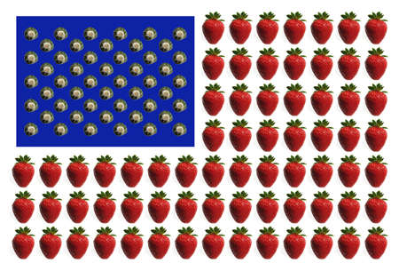 us flag maken from a strawberry and snail photo