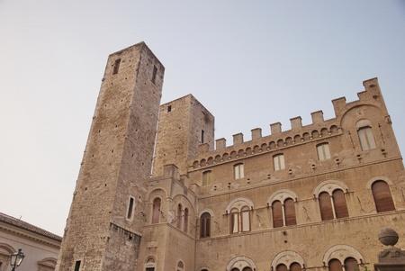 historical palace in Ascoli Piceno, Italy