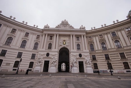 cloudy day over Hofburg, Wien