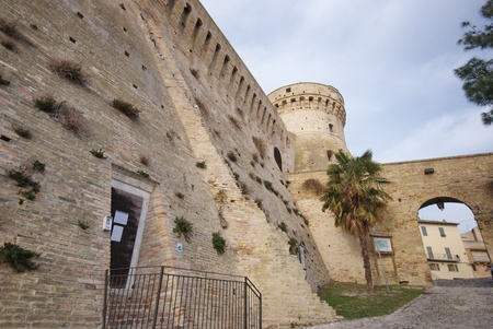Acquaviva Picena fortress, one of the largest castles in the Marche, rebuilt by Baccio Pontelli in the 15th century. Actually is a museum and touristic attraction
