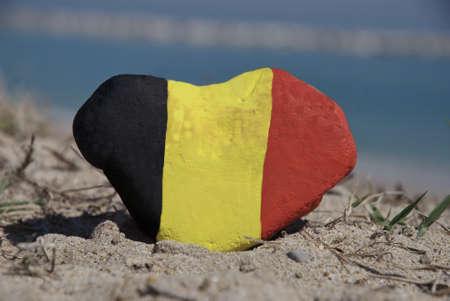 Belgique dans mon coeur Banque d'images