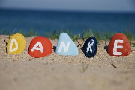 danke, l'allemand merci sur des cailloux Banque d'images