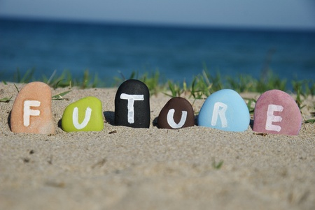 future word painted over some pebbles Stock Photo