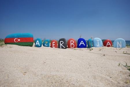 Azerbaijan, Caucasus region, souvenir on stones