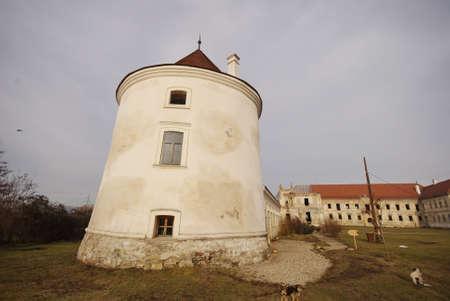 View over Banffy Castle, Bontida, Romania Stock Photo
