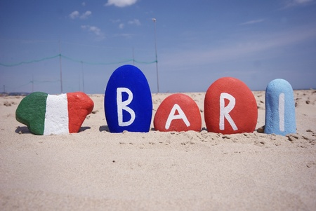 Bari, Puglia region, Italy, souvenir on stones Stock Photo