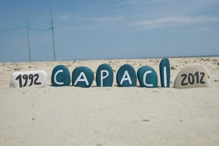 explotion: Capaci 1992-2012, commemoration of a tragedy Stock Photo