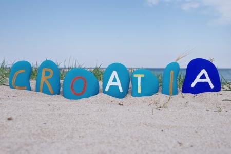 Croatia, souvenir on colourful stones