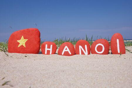 Hanoi, Vietnam, souvenir on colourful stones