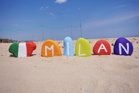 Milan, Italy, souvenir on colourful stones Stock Photo - 13892605