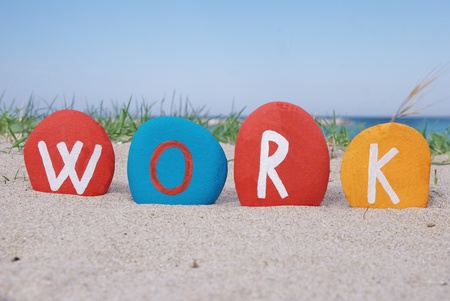 concept of work on colourful stones Stock Photo - 13892503