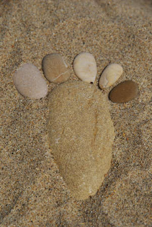 stone foot composition photo