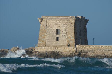 Ligny, Trapani, Sicilya Kulesi Stock Photo
