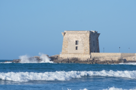 Trapani, tower of Ligny, Sicily photo