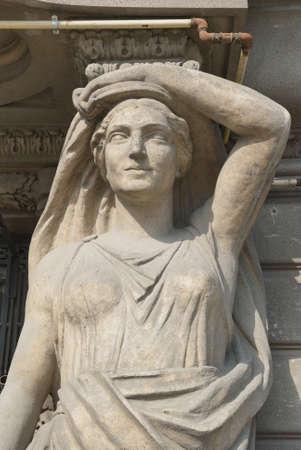 statue ornementale, Bucarest, Roumanie Banque d'images