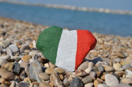 Italie dans mon coeur, souvenir de cailloux Banque d'images
