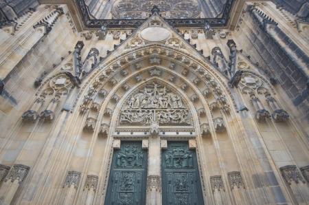 Prague, St. Vitus Cathedral main entrance photo