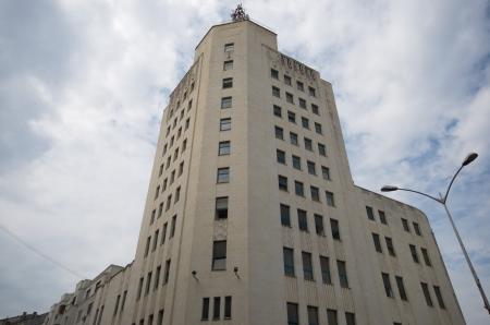 bucarest: Bucarest, Palais T�l�phone Banque d'images