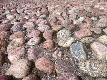 surface: Round stones street in Stockholm