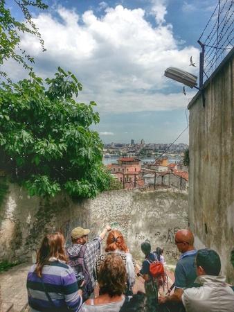 Walk touristic tour, Fener, Fatih district, Turkey