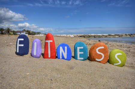 Fitness concept on stones