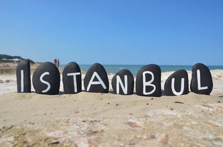 Istanbul, souvenir on black stones Stock Photo