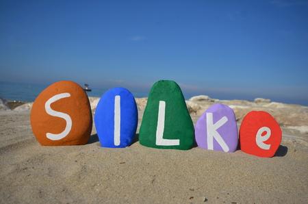 germanic: Silke, germanic female meaning name on stones