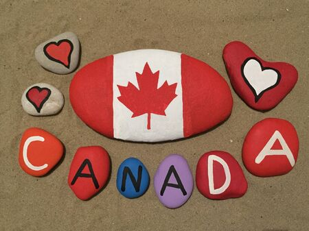 Canada, souvenir on colored stones