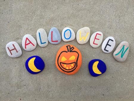 Halloween, conceptual composition stones