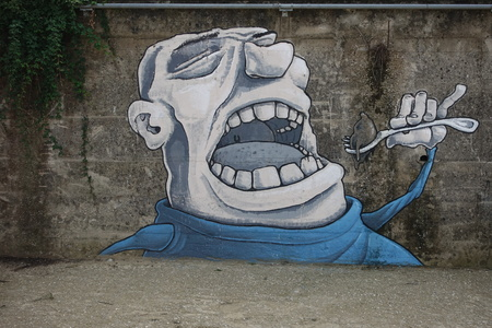 The glutton, airbrush design on a wall