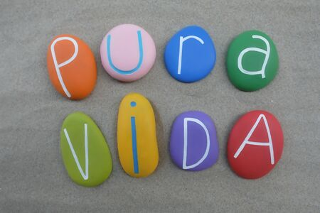 Pura Vida, spanish word used in Costa Rica