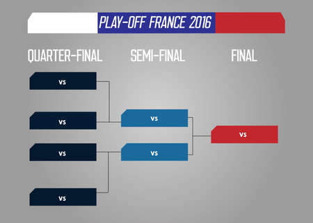 playoff: European football championship 2016 in France group and play-off stage schedule template