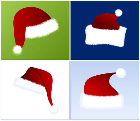 period costume: 4 different Santa hats
