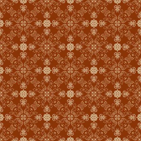 Ornate wallpaper that will tile seamlessly. Vector