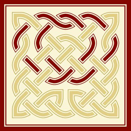 sin fin: Ilustraci�n vectorial de un nudo entretejido celitc