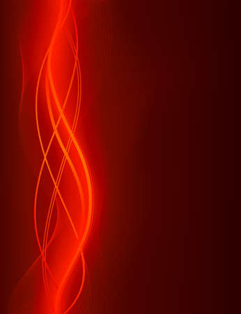 sensuous: Glowing abstract wave background in shades of red . Use of global colors and gradients