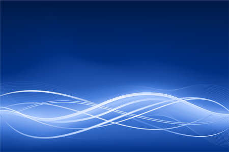 Blue abstract wave background with neon effects. Use of global colors, linear gradients, blends  Vector