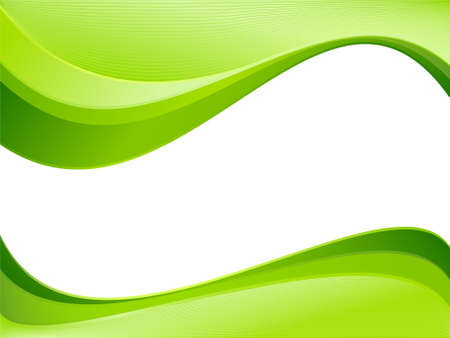 green wave: Green ecology wave background template. Abstract background with copy space for   text. Linear gradients, blends, global colors. Illustration