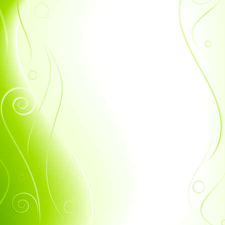 blends: Spring fantasy vector card. Abstract background with copy space for text. Linear gradients, blends, global colors.