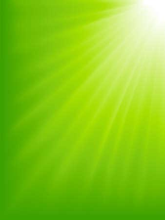 alive: Green light burst. Abstract background. Light burst from white to green. Blend.
