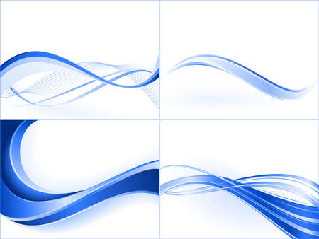 Blue wave templates. Blends,  linear gradients. Stock Vector - 4433812