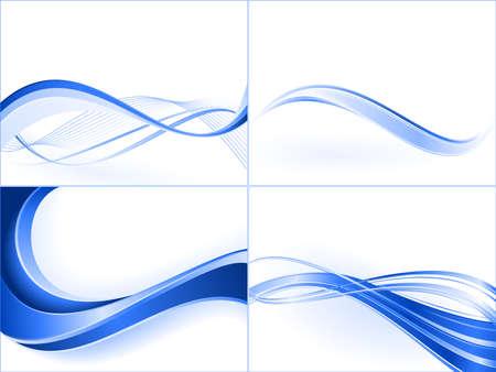blends: Blue wave templates. Blends,  linear gradients.