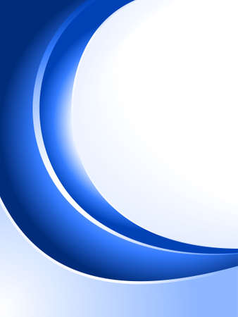 Blue abstract background. Linear and radial gradients, blends. Vector