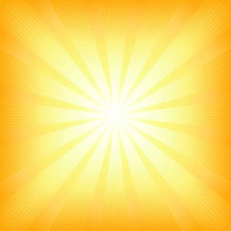 light burst: Platz zentriert Licht Burst von Wei� zu Orange. Verwendung von 6 globalen Farben, Mischungen, linearen und radialen Farbverl�ufen, Clipping-Maske.