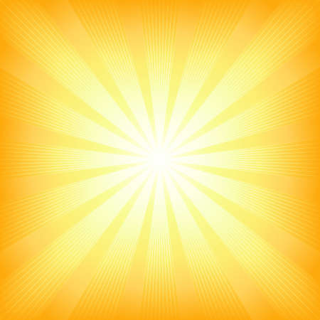 Square centered light burst from white to orange. Use of 6 global colors, blends, linear and radial gradients, clipping mask. Stock Vector - 4638070